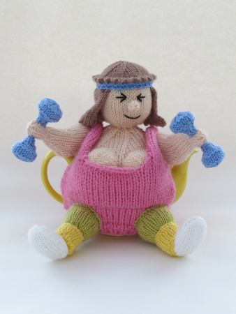 Keep Fit Tea Cosy Knitting Pattern