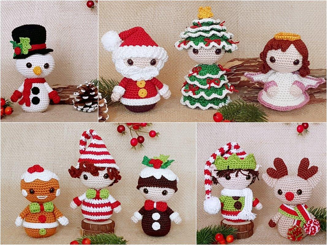 Amigurumi Dolls Christmas Ornaments Wreath Sweater Angel Stocking ... | 800x1067