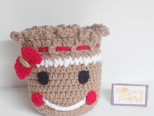 Gingerbread Pouch- Crochet Pattern PDF- English