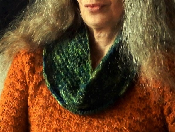 "Knitting pattern 1 skein cowl ""Woodland"""