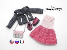 PDF Pattern Crochet Outfit for Doll Avy
