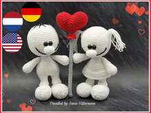 crochet pattern Valentines-Couple