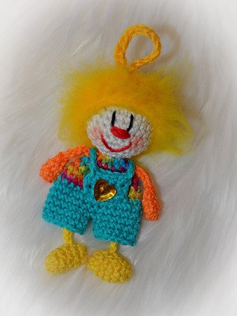 Keychain funny clown different variants carnival harlequin