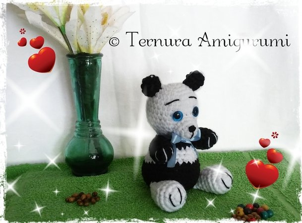 9 Crochet Panda Patterns – Cute Amigurumi Bear Toys - A More ... | 450x609