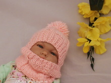 Baby doll hat and scarf