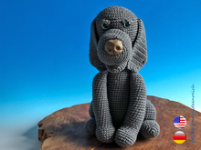 Crochet Pattern Lulli the Weimaraner, crochet a sitting dog, amigurumi dog by jennysideenreich