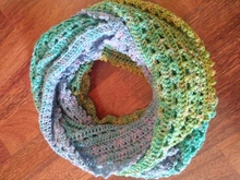 "Crochet Pattern for infinity scarf ""Sunny"""