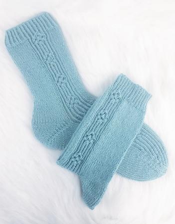 Strickanleitung  Simply Flowers Socken