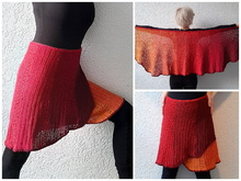 "Häkelanleitung Wickelrock ""Strip for Strip"", Gr.S/M, L-XL"