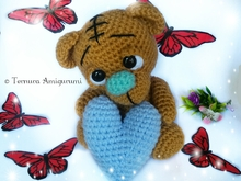 Crochet pattern Valentine's day bear, bear whit heart PDF ternura amigurumi ENGLISH- DEUTSCH- DUTCH