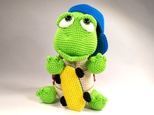 "Crochet Pattern ""Scott"" The cool Turtle"