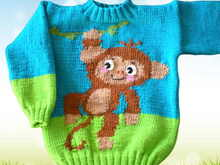 Knitting Pattern Wild Animals - Monkey - 2 Sizes