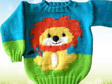 Knitting Pattern Wild Animals - Löwe- 2 Sizes