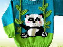 Knitting Pattern Wild Animals - Panda bear - 2 Sizes