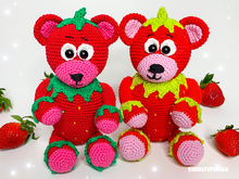 Sugar sweet Straw Bearry - crochet pattern