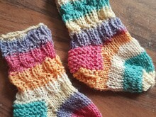 Babysocken Pippilotta stricken