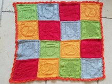 Pattern Baby Blanket Swiss card game deck