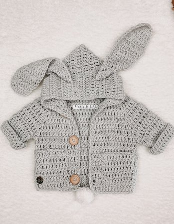Baby Cardigan with Bunny Ears LOU LOU