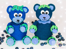 Sugar sweet blue Bearry - crochet pattern