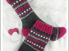 Strickanleitung Lovely Hearts Socken