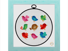 Birds Cross Stitch PDF Pattern