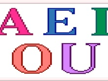 Vowels letters Cross Stitch PDF Pattern