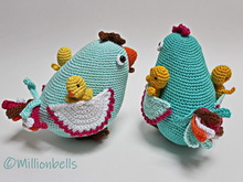 Mommy Chicken With Chicklets Amigurumi PDF Crochet Pattern