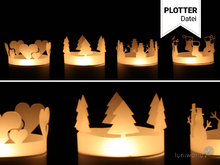Christmas Tealight Cover Plotterfile