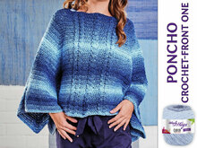 PONCHO CROCHET-FRONT ONE
