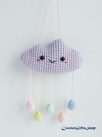 Cute Cloud and Raindrops Mobile