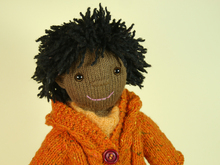 Doll Olivia in Winter Outfit, knitting pattern