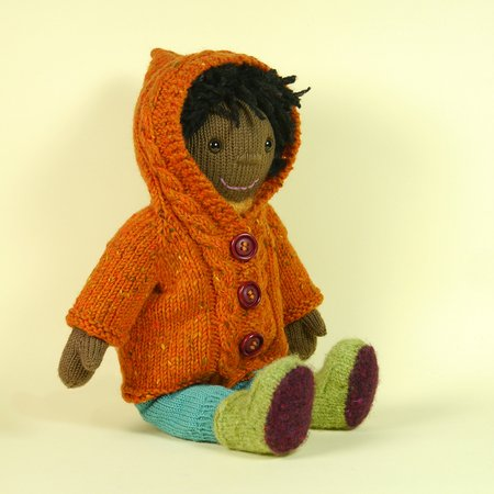 Puppe Olivia im Winter-Outfit, Strickanleitung
