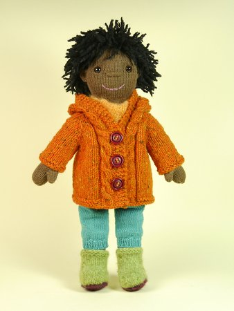 Winter Outfit, Doll's Wardrobe, knitting pattern
