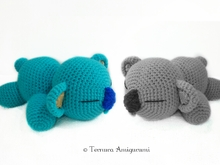 Häkelanleitung Koala schläfrig PDF ternura amigurumi english- deutsch- dutch