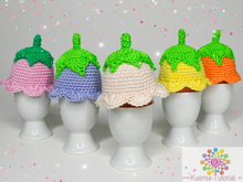 Flower egg warmer - crochet patterns