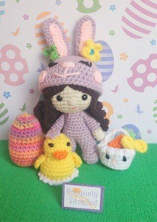 Crochet bunny amigurumi pattern | Amiguroom Toys | 450x319