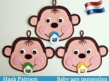 079NLY Haakpatroon - Babyaap pannenlap of decoratie - PDF file by Zabelina CP