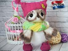 196NLY Haak patroon - Schattige uil - Amigurumi soft toy PDF file by Ogol CP