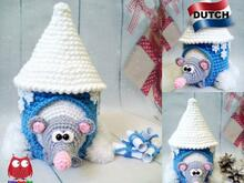 234NLY Haakpatroon - Rat of muis met een winterhuis - PDF file by Knittoy CP