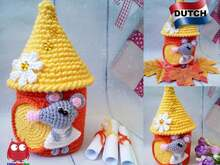236NLY Haak patroon - Rat of muis in zomerhuis - PDF file by Knittoy CP