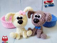 229NLY Haak patroon- Little puppy - Amigurumi PDF file by Knittoy CP