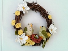 Pattern Easter Wreath - Bird Family