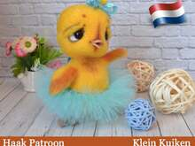 199NLY Haak Patroon - Klein kuiken in Ballerina outfit- Amigurumi soft toy PDF file by Ogol CP