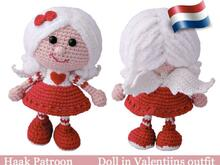 125NLY Haakpatroon - Pop in valentijns outfit - Amigurumi PDF file by Stelmakhova CP