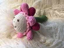 crochet pattern baby rattle little flower