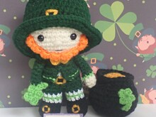 Felton in Leprechaun Costume  - Amigurumi PDF- English