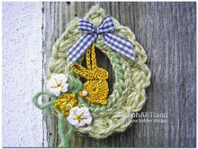 Jute Egg Wreathes with Easter Bunny - Seasonal Cottage Decoration