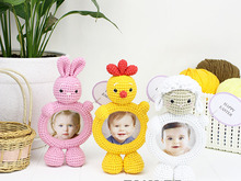 Crochet Pattern Photo Frame-Holder Easter Collection