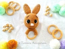 Crochet pattern Rabbit toy rattle PDF Ternura Amigurumi ENGLISH - DEUTSCH - DUTCH
