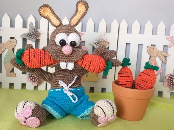 "Crochet Pattern ""Corrot Loving Max"""
